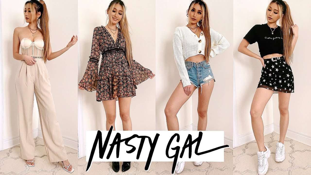 NASTY GAL Transitional Spring Outfit Ideas | Try on Haul & Review