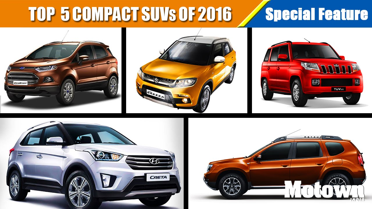 top 5 compact suvs to buy this summer 2016 special feature motown india youtube. Black Bedroom Furniture Sets. Home Design Ideas