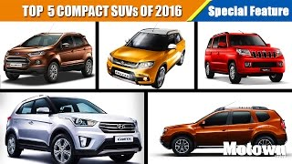 Top 5 Compact SUVs To Buy This Summer (2016) | Special Feature | Motown India