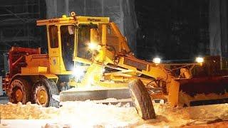 Snow Removal Motor Grader, Sweden