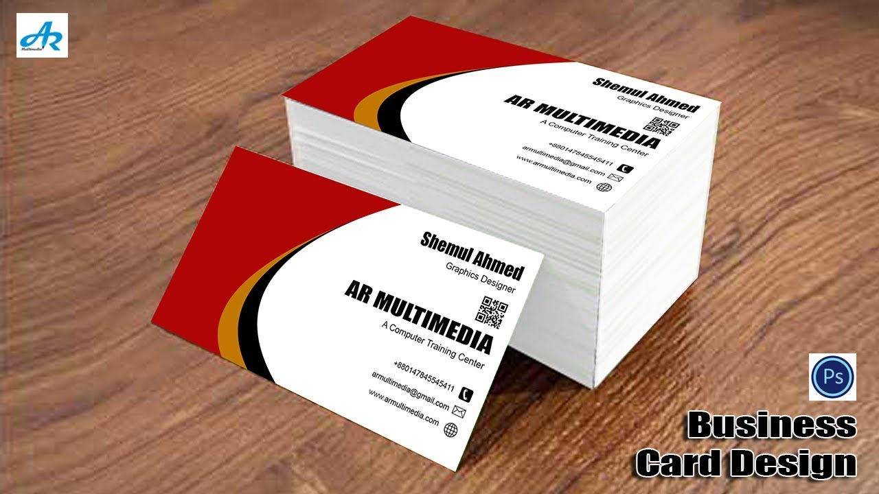 how to make visiting card in photoshop
