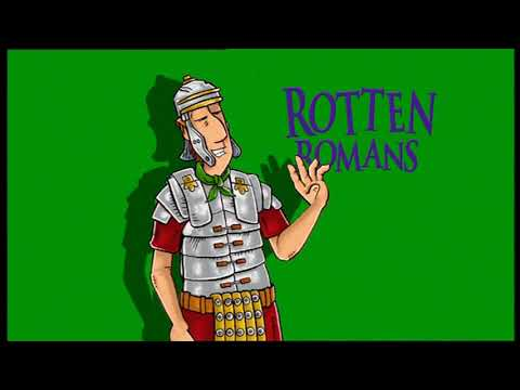Horrible Histories  Rotten Romans HHTV News  Bob Hale's Roman Report  crazy Caligula  speechwriter