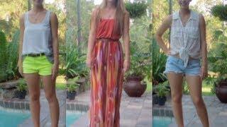 Repeat youtube video Summer Outfits Lookbook   spreadinsunshine15