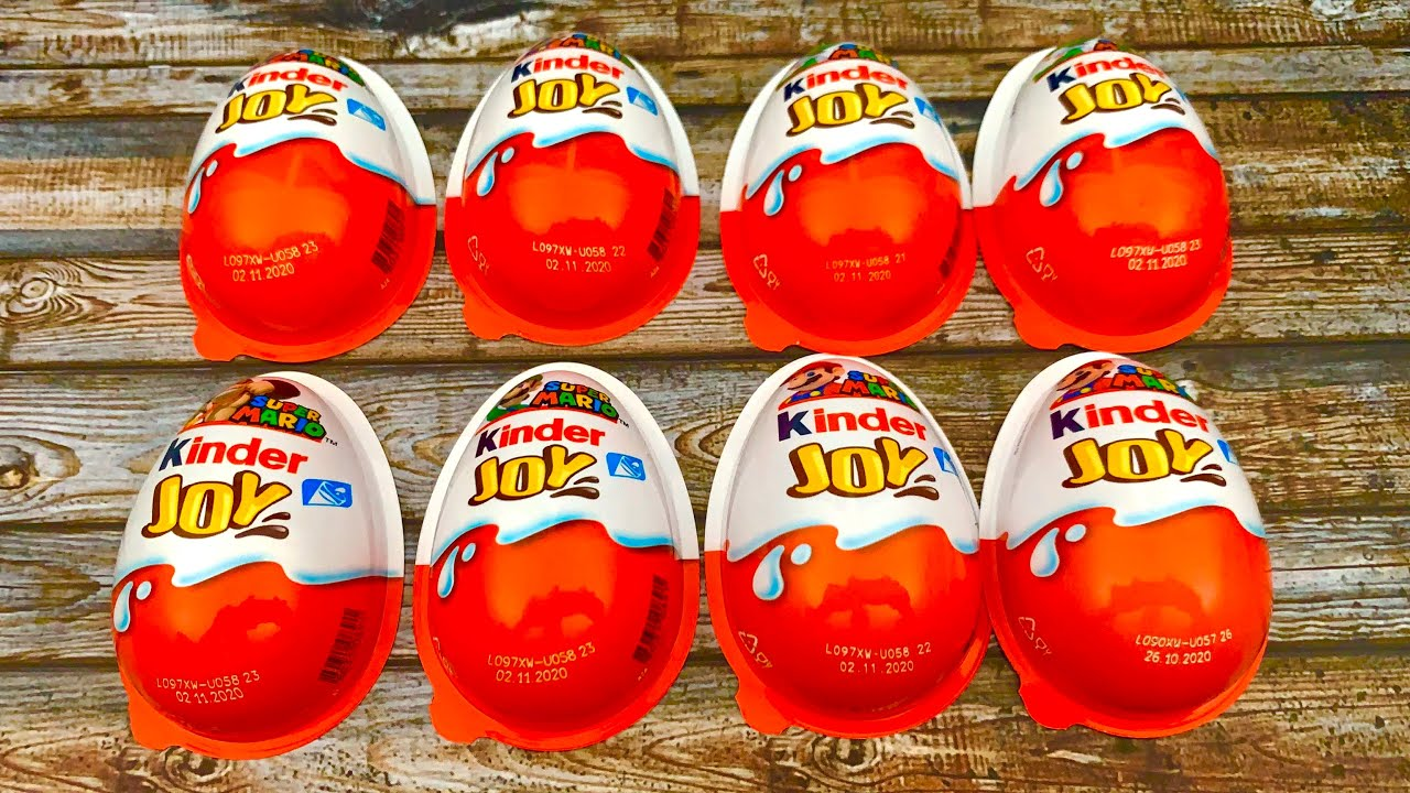 🥰 8 x Kinder Joy Surprise Eggs with Masha, Peppa, Fireman Sam and more