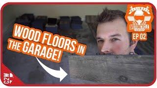 EASIEST garage flooring to install! Wood? - UMG Episode 02