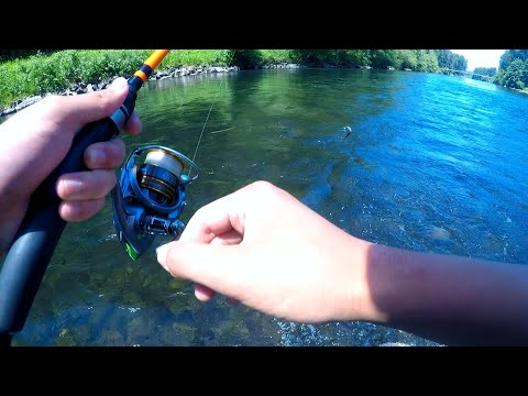 Washington State - Relaxing Summer River Trout Fishing