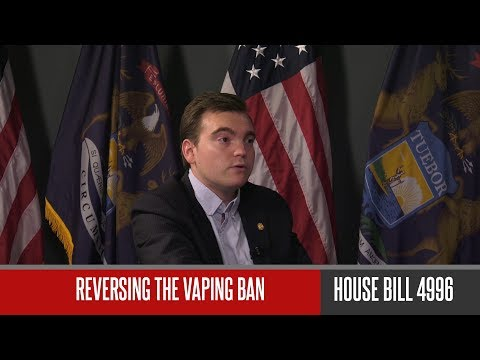 Michigan State Representative Beau LeFave (R) speaks out against Michigan's Vaping Ban