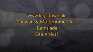 Devon - Ramslade Caravan & Motorhome Club Site Arrival