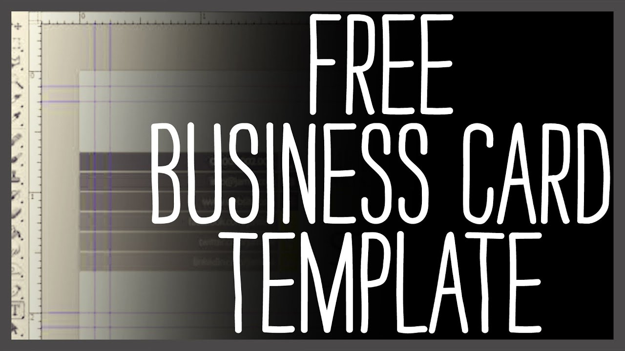 Free Business Card Template Photoshop Youtube