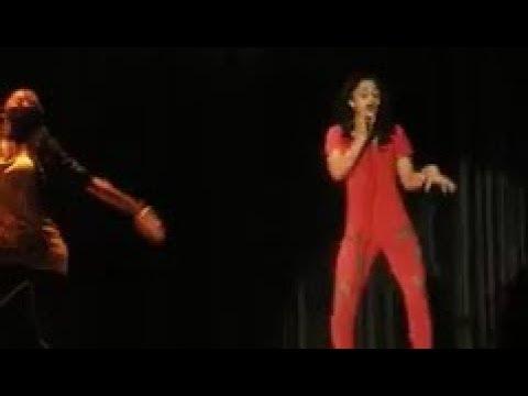 Cardi B. performing Lady Gaga