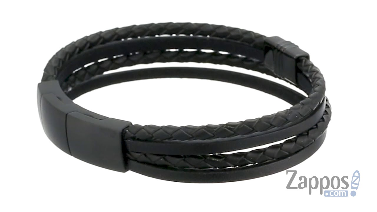 6f780cd71 Fossil Matte Leather Bracelet SKU  9239020 - YouTube