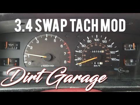 How To SR5 Cluster Swap - 3.4 Swap Tach Resistor Mod - Toyota Pickup / 4Runner (4K)
