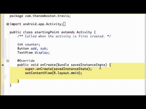 Android Application Development Tutorial - 8 - Setting up Variables and Referencing XML ids