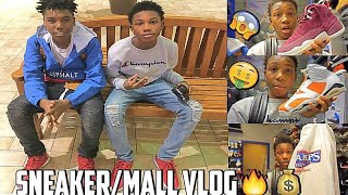 LIT SNEAKER PICKUP VLOG!! THEY KICKED US OUT THE MALL!!!😡 NEW SNEAKER PICKUPS🔥