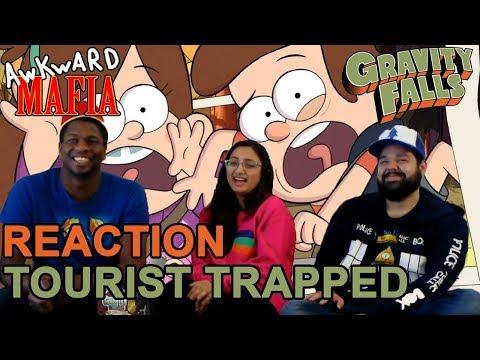"Gravity Falls - 1x1 ""Tourist Trapped"" (Group Reaction) - Awkward Mafia Watches"