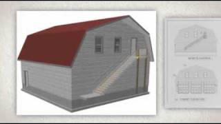 The Best 40x40x12-6 Gambrel Barn Apartment Plans