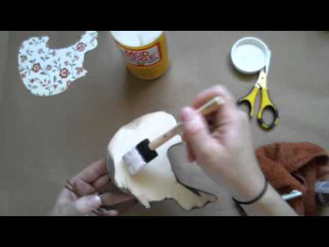 How-to Stain and Decoupage Unfinished Wood Crafts