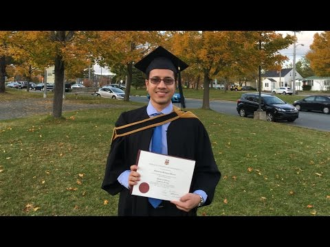 My Convocation Ceremony at Memorial University of Newfoundland on Fall 20th October, 2016