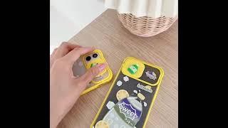 스프라이트 패턴 슬라이드 카메라보호 휴대폰 케이스