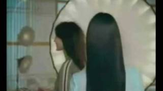 Super long hair from shampoo commercial