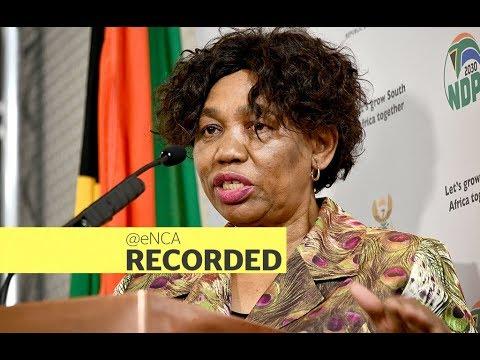 Minister Angie Motshekga briefs the media
