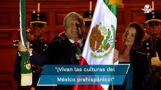 Por segundo año consecutivo, debido a la pandemia de Covid-19, el presidente Andrés Manuel López Obrador realizó su Grito de Independencia sin público en el Zócalo capitalino, y con un grupo reducido de invitados