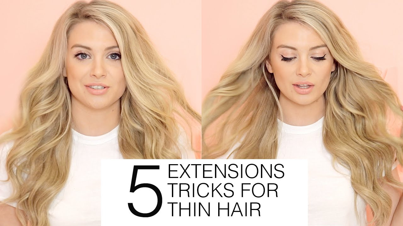 5 must know hair extensions tricks for fine and thin hair milk 5 must know hair extensions tricks for fine and thin hair milk blush youtube pmusecretfo Choice Image