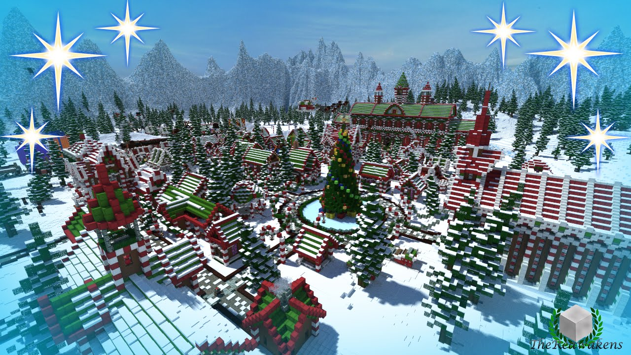 Christmas City.Minecraft Timelapse Santa S Gingerbread Christmas City Download