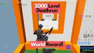 2:24:44 - 2000 Level Deathrun | Official World Record! #DaintierFox2000