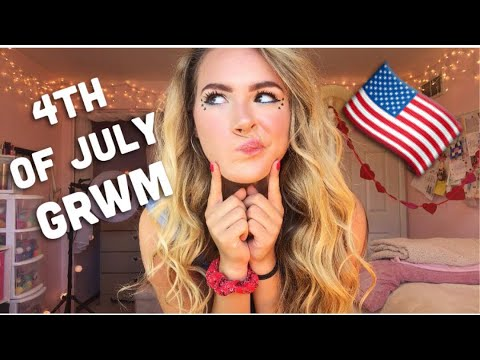 GET READY WITH ME! 4th OF JULY HAIR, MAKEUP, & OOTD! 💋
