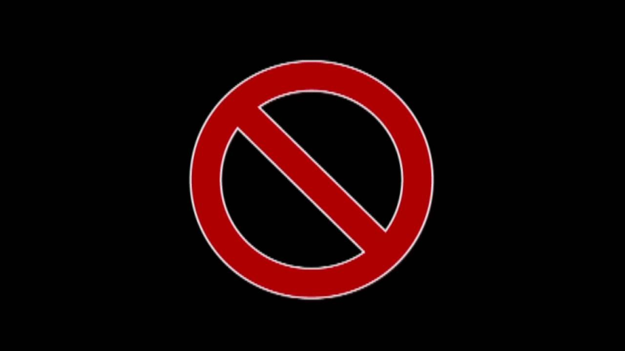 no entry sign animation youtube