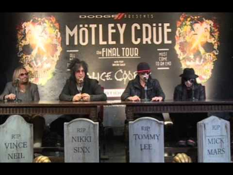 "Motley Crue announce ""Final Tour"" dates released, also to play Jimmy Kimmel and CBS This Morning"