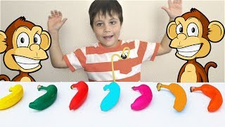 Finger Family song Nursery rhymes for Children, Toddlers and Babies Learn Colors with Bananas