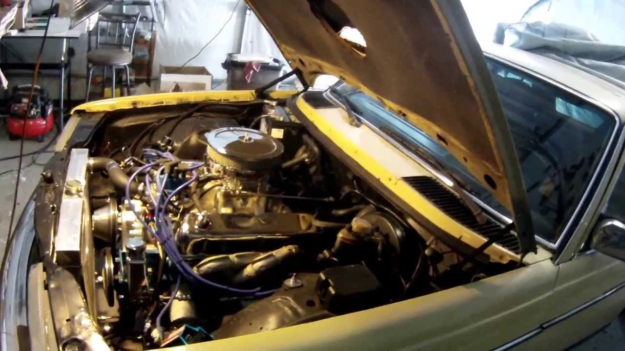 ENGINE SWAP Mercedes with a ford 302 under the hood