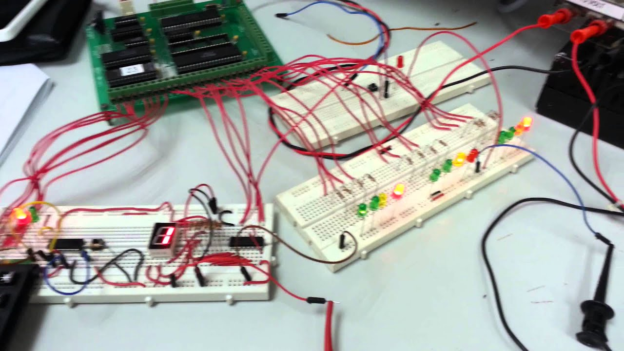 8085 Microprocessor Mini Project - Traffic Light - YouTube