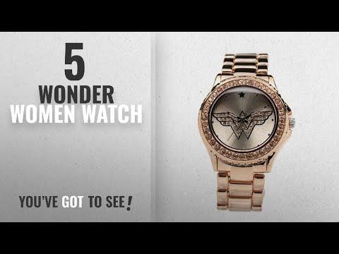 Top 10 Wonder Women Watch [2018]: Wonder Woman Watch RoseGold with Light Peach Toned Stones (WOW