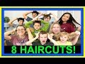 8 BACK TO SCHOOL HAIRCUTS   BEFORE AND AFTER   HAIRCUTS!