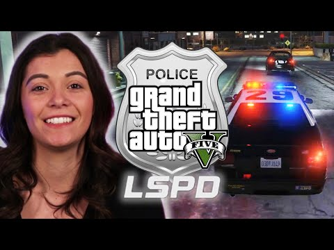 "Police Officer Plays As A Cop in ""Grand Theft Auto V"""