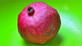 Granatapfel-Lifehack-die einfachste Art einen Granatapfel richtig zu entkernen in Echtzeit