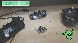 Razer DeathAdder 2013 disassembly- COMṖLETE GUIDE