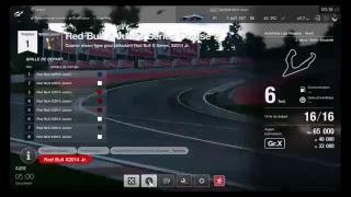 Avec volant sur GT sport : Course RedBul x junior  séries 2 . En live Pilote Zitoun59 ...