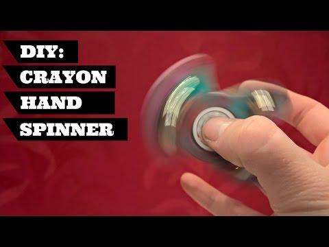 DIY Fidget Toy Spinner Crayon Hand Spinner SUPER EASY   DIY Hand Spinner Super Easy