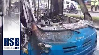 Bus del SITP se incendió frente a la fabrica de Bavaria en Bogotá