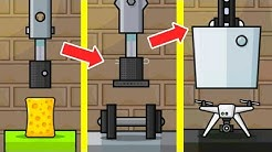 Hydraulic Press Pocket Evolution! Max Level Upgrade of Hydraulic Press & Unlimited Gold Hack