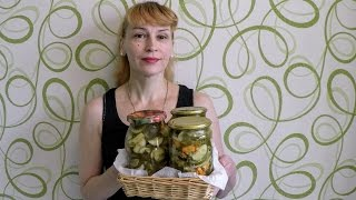 Салат из огурцов на зиму! Секрет рецепта заготовки вкусной закуски!