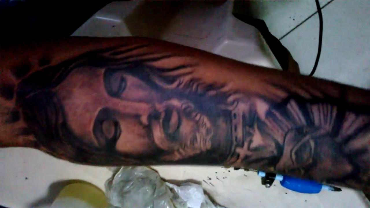 Tatuagem Realista E 3dtatuagem Jesus Cristo Giltatoo Sa