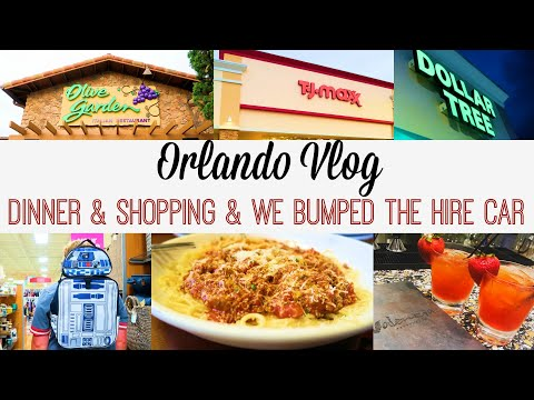 WE BUMPED THE HIRE CAR!! | Shopping in TJMAXX & DOLLARTREE |  Olive Garden | ORLANDO | DAY 12 PART 2