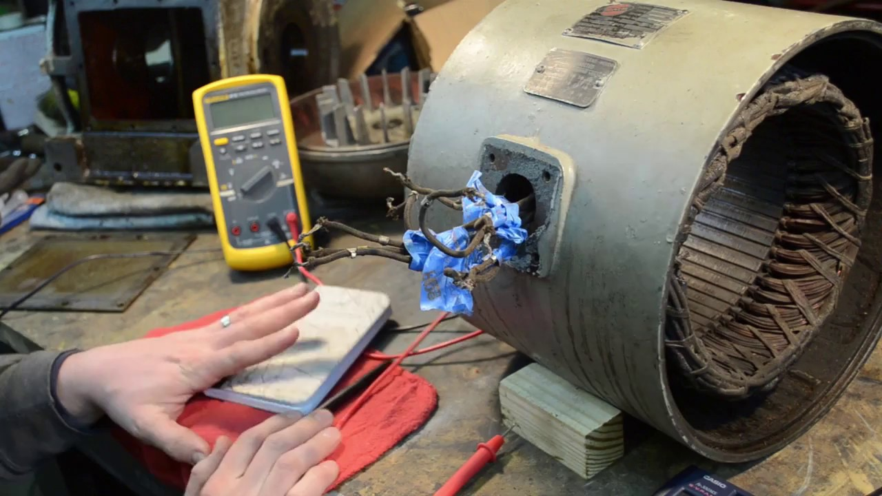 Checking windings in a 9 lead 3 phase motor youtube for How to check ac motor