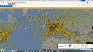 Все авиарейсы мира на карте в реальном времени !