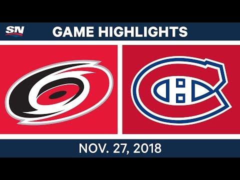 NHL Highlights | Hurricanes vs. Canadiens - Nov 27, 2018